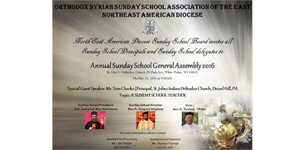 Sunday School General Assembly on Saturday, May 21